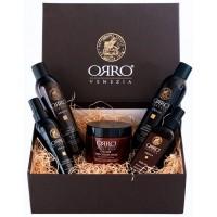 ORRO HOLIDAY SET ARGAN - Подарочный набор СПА-уход (Шампунь + Кондиционер + Маска + Аргановое масло + Спрей маска) 250 + 250 + 250 + 100 + 150мл